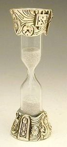 Sterling Silver Table Sand Clock Hourglass Miniature | eBay