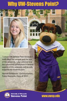 Hannah chose UW-Stevens Point because of the community involvement and support.