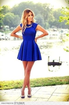 Fashion: Summer Blue Dress | FREE video reveals a somewhat unusual tip to quickly get a flatter belly while still enjoying all the foods you love… bit.ly/1hHxIjs