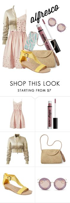 """Alfresco dinner date"" by delierose ❤ liked on Polyvore featuring Miss Selfridge, NYX, Mar y Sol, Kenneth Cole Reaction and Miu Miu"