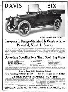1000 Images About Davis Motor Car Co Ads On Pinterest
