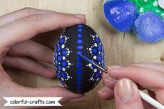 How to paint Mandala Easter Eggs - Tutorial