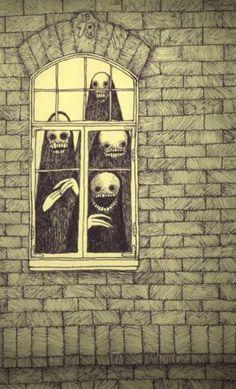 Monster Drawing, Monster Art, Arte Horror, Horror Art, John Kenn, Creepy Drawings, Funny Drawings, Face Illustration, Monster Illustration