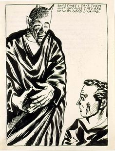 Pettibon, Raymond - Untitled (Sometimes I take them...) - Art Now / Recent - Other/Unknown theme - Pen and ink