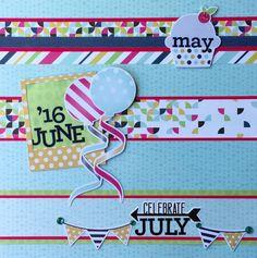 Creative Memories Soiree Scrapbooking Collection Borders #creativememories #scrapbooking #scrapbookborders #calendar #months www.creativememories.com