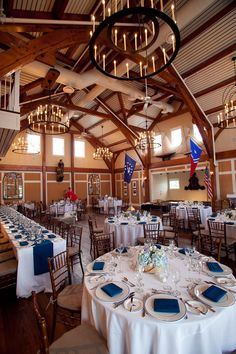 nautical wedding reception.
