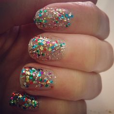 Prepping for New Years with the Glitter Nail Polish in Supernova. New colors available too! American apparels