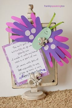 Frankly Speaking Too: iLoveToCreate: Butterfly Mother's Day Card #diy #crafts www.BlueRainbowDesign.com