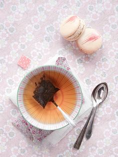 Macarons and Tea... Aline Caron by decor8, via Flickr