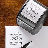Personalized Self-Inking Address Stamp - Small Initial