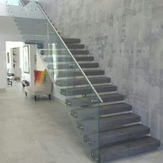 Micro-topping concrete stairs is similar to Venetian plaster the look is created with many thins skimmed layers.