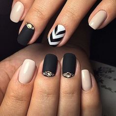 Everyday nails, Exquisite nails, Fashion nails 2016, Manicure nail design, Nail Design 2016, Nails for business lady, Nails trends 2016, Nails with gold