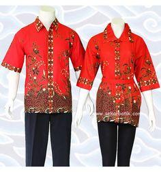 blus batik sarimbit couple BC05 merah koleksi sekarbatik.com  selengkapnya di http://sekarbatik.com/blus-batik-sarimbit/