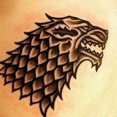 Pictured: Basic Direwolf, Sigil of House Stark
