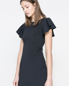 Image 2 of DRESS WITH FRILLY SLEEVES from Zara