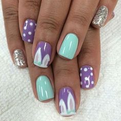 31 Purple + Turquoise Nails