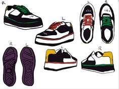 Custom Sneakers, Custom Shoes, Custom Clothes, Minecraft Shoes, Painting Minecraft, Shoe Painting, I Love Bees, Swag Shoes, Clothing Sketches