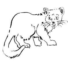 Neighborhood Cat - Free Printable Coloring and Activity Pages. Click for more fun pages for kids.