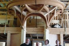A guitarde is a Compagnonnique type dormer. Dormer, Woodworking Inspiration, Curved Wood, Roof Structure, Post And Beam, Woodworking Wood, Geometric Art, Joinery, Carpentry