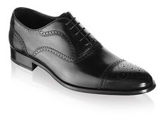 b51b26e6d5 To Boot New York: Men's Capote Lace Ups in Black Bőr Férfidivat, Oxford  Cipők