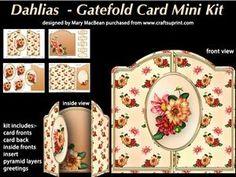 Dahlias - Gatefold Card Mini Kit
