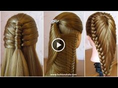 Eid Special Hair Styles 2018 - Health And Beauty Tips With Sara Beauty Tips For Girls, Beauty Tips For Hair, Beauty Hacks, Hair Beauty, Grow Natural Hair Faster, Grow Long Hair, Silky Hair, Smooth Hair, Medium Hair Styles