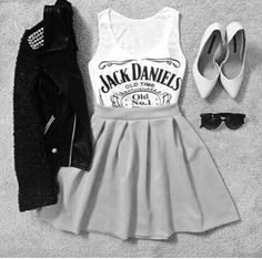 Immagine di fashion, outfit, and jack daniels                                                                                                                                                                                 More