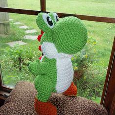 Ravelry: Free Amigurumi Yoshi Pattern pattern by Trischa Morales (Crochet) Crochet Mario, Cute Crochet, Crochet Crafts, Crochet Baby, Crochet Projects, Knit Crochet, Ravelry Crochet, Yoshi, Crochet Patterns Amigurumi