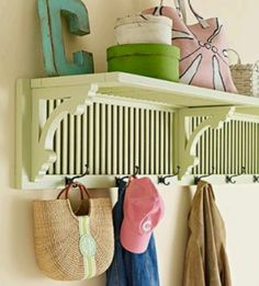 Again, I hate the cliche repurposed shelves. This is anything but cliche!