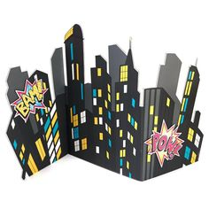 [Batman Birthday Party] Superhero Girl Party Supplies - City Scape Standup >>> Check this awesome product by going to the link at the image. (This is an affiliate link) Girl Superhero Party, Batman Party, Batman Birthday, Girl Birthday, Batgirl Party, Superhero City, Superhero Party Decorations, Superhero Room, Festa Pj Masks