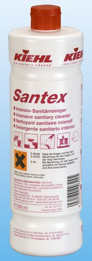 Santex este un detergent sanitar pe baza de acizi, cu actiune intensiva.