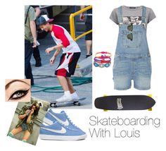 """Skateboarding With Louis❤"" by one-direction-outfitsxxx ❤ liked on Polyvore featuring Pieces, Dolce&Gabbana, Frame Denim, Ray-Ban, NIKE, Sector 9, women's clothing, women's fashion, women and female"