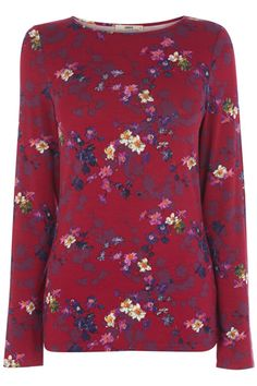 The classic long sleeve tee has been given a patterned makeover, but still has the long sleeves, soft fabric, and scoop neck that you know and love. Womens Going Out Tops, Casual Tops For Women, Floral Tops, Floral Prints, Winter Outfits Women, Latest Dress, New Outfits, Winter Fashion, Tunic Tops