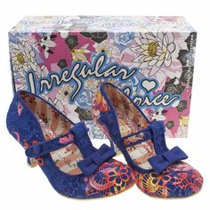 womens irregular choice multi lazy river rainbow crochet low heels