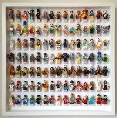Die endgültige Lösung zu Ihren Lego-Minifiguren. Zeigen Sie ihnen in organisierter Form und halten sie sicher und staubfrei. Es fasst 105