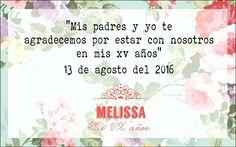 1. Agradecimiento de padres [VX] [15 años] [quinceñera] [oración] [misa] [flores] [rosa coral]☆.