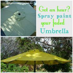 My Thrift Store Addiction : Easy Umbrella Upgrade! #FixFadedUmbrella #Upcycle #UseWhatYouHave