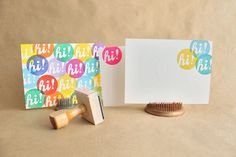 Hi rubber stamp by nsquare on Etsy, $17.00