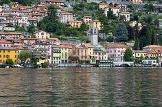The small town of Moltrasio at the shore of lake Como in Italy