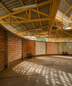 community center in costa rica by fournier rojas arquitectos - The Best Examples of Eco Tourism Architecture Brick Architecture, School Architecture, Villa Del Carbon, Youth Center, Costa Rica, School Design, Backyard Landscaping, Community, Building