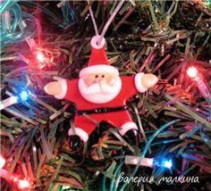 Salt dough Santa ornament: