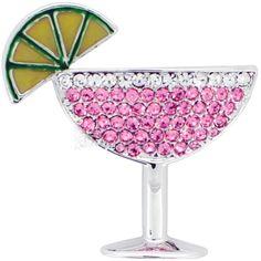 Pink Margarita Glass Brooch/Pendant
