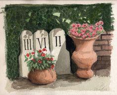 Flower vases in my garden 27-5-13
