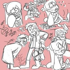 Timestuck AU doodles by SystemEmotions on DeviantArt<--So is that just Ford being awkward in the bottom corner or is that BillFord?