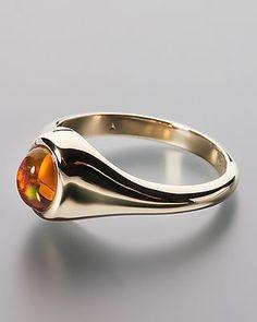 Edler Goldring mit einem Feueropal von Terra opalis #schmuck #terra #opalis #opal #edelstein #ring