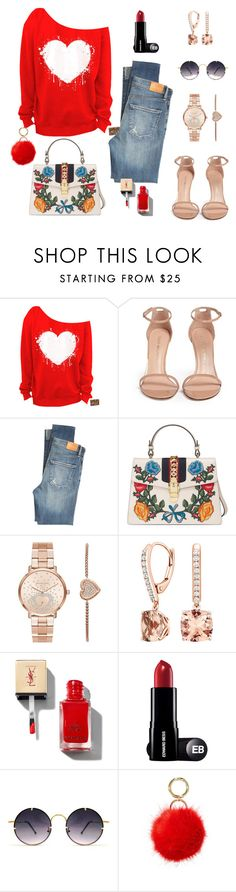 Look inspiration by citelles on Polyvore featuring moda, Citizens of Humanity, Stuart Weitzman, Gucci, Michael Kors, Iphoria and Spitfire