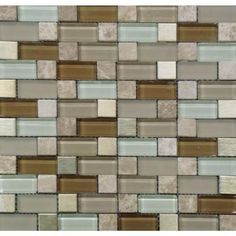 Amazing backsplash tile that Michael and I picked out at Home Depot for our dream kitchen ❤❤❤ so pretty in person! International Inc., Versailles Blend Pattern 12 in. x 12 in. Magic Mosaic Glass Floor and Wall Tile, at The Home Depot - Mobile Glass Tile Backsplash, Glass Mosaic Tiles, Wall Tiles, Backsplash Ideas, Tile Ideas, Kitchen Backsplash, Tile Mosaics, Kitchen Floor, Kitchen Reno