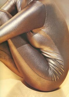 """crystallizations:    """"Molten Metallics"""": Tatiana Patitz photographed by Herb Ritts for Vogue UK, August 1991"""
