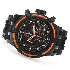 Invicta 52mm Bolt Hybrid Quartz Chronograph Carbon Fiber Dial Silicone Strap Watch