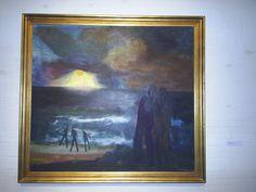 Havbillede. Solnedgang, 1955. Statens Museum for Kunst. Jens Søndergaard. Foto…